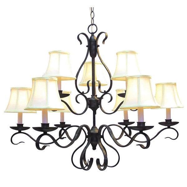 Woodbridge Lighting Manchester 9-light Charcoal Chandelier
