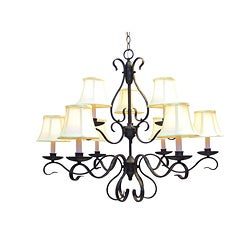 Woodbridge Lighting Manchester 9-light Charcoal Chandelier