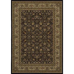 "Westminster Kashan Black Power-Loomed Rug (5'3"" x 7'7"")"