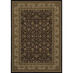 Westminster Black Kashan Rug (5'3 x 7'7)
