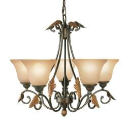 Woodbridge Lighting Easton 5-light Coffee Chandelier
