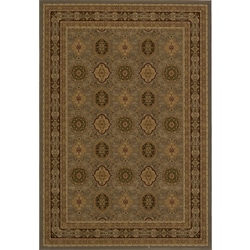 Westminster Power-Loomed Tabriz Panel Slate Rug (7'10' x10'10')