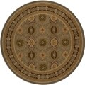Westminster Tabriz Green Panel Rug (7'10 Round)