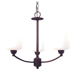 Woodbridge Lighting Copenhagen 3-light Textured Coffee Chandelier