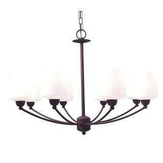 Woodbridge Lighting Copenhagen 8-light Textured Coffee Chandelier