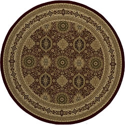Westminster Tabriz Red Panel Rug (7'10 Round)