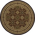 "Westminster Tabriz Red Panel Power-Loomed Rug (7'10"" x 7'10"" Round)"