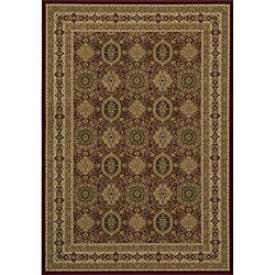 "Westminster Tabriz Red Panel Power-Loomed Rug (5'3"" x 7'7"")"