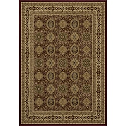 Westminster Tabriz Red Panel Rug (5'3 x 7'7)