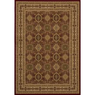 "Westminster Tabriz Red Panel Power-Loomed Rug (9'10"" x 13'6"")"