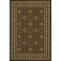 Westminster Tabriz Brown Panel Rug (9'10 x 13'6)