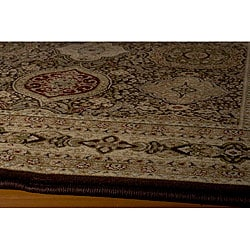 Westminster Power-loomed Tabriz Panel Brown Rug (7'10' x10'10')