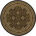 Westminster Tabriz Panel Brown Rug (7'10 Round)