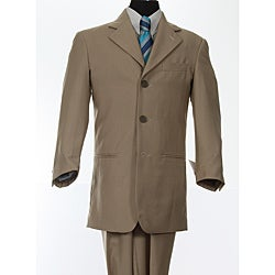 Ferrecci Boy's Tan 3-button Suit