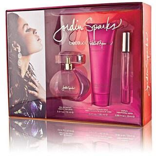Jordin Sparks Because of You Women's Deluxe Fragrance Set