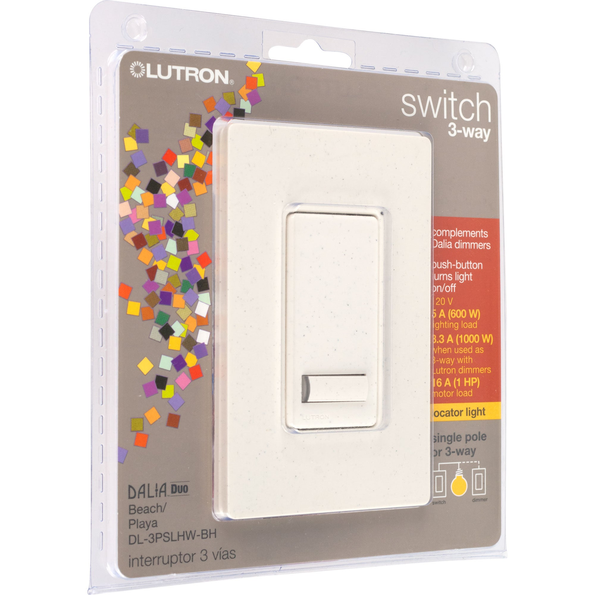 Lutron Dalia Duo 1000-watt 3-way Switch