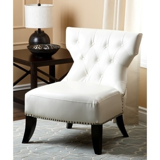Abbyson Living Bentley White Bonded Leather Chair