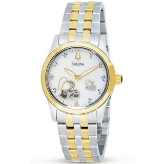 Bulova Women's BVA Series Heart Aperture Dial Stainless Steel Watch
