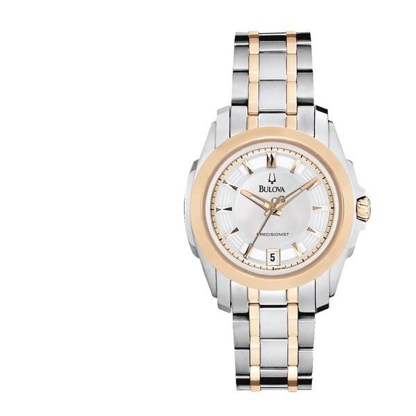 Bulova Precisionist Women's 'Longwood' Two-tone Stainless Steel Watch