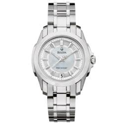 Bulova Precisionist Women's 'Longwood' Mother of Pearl Dial Watch