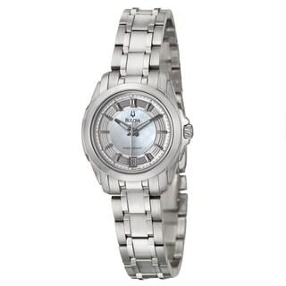 Bulova Women's 96M108 Precisionist 'Longwood' Mother of Pearl Dial Watch