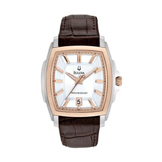 Bulova Men's 98B150 Precisionist Rose Gold Tonneau Watch