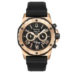 Bulova Men's 'Marine Star' Rose Goldtone Chronograph Watch