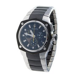 Bulova Accutron Men's 'Corvara' Two-tone Steel Chronograph Watch