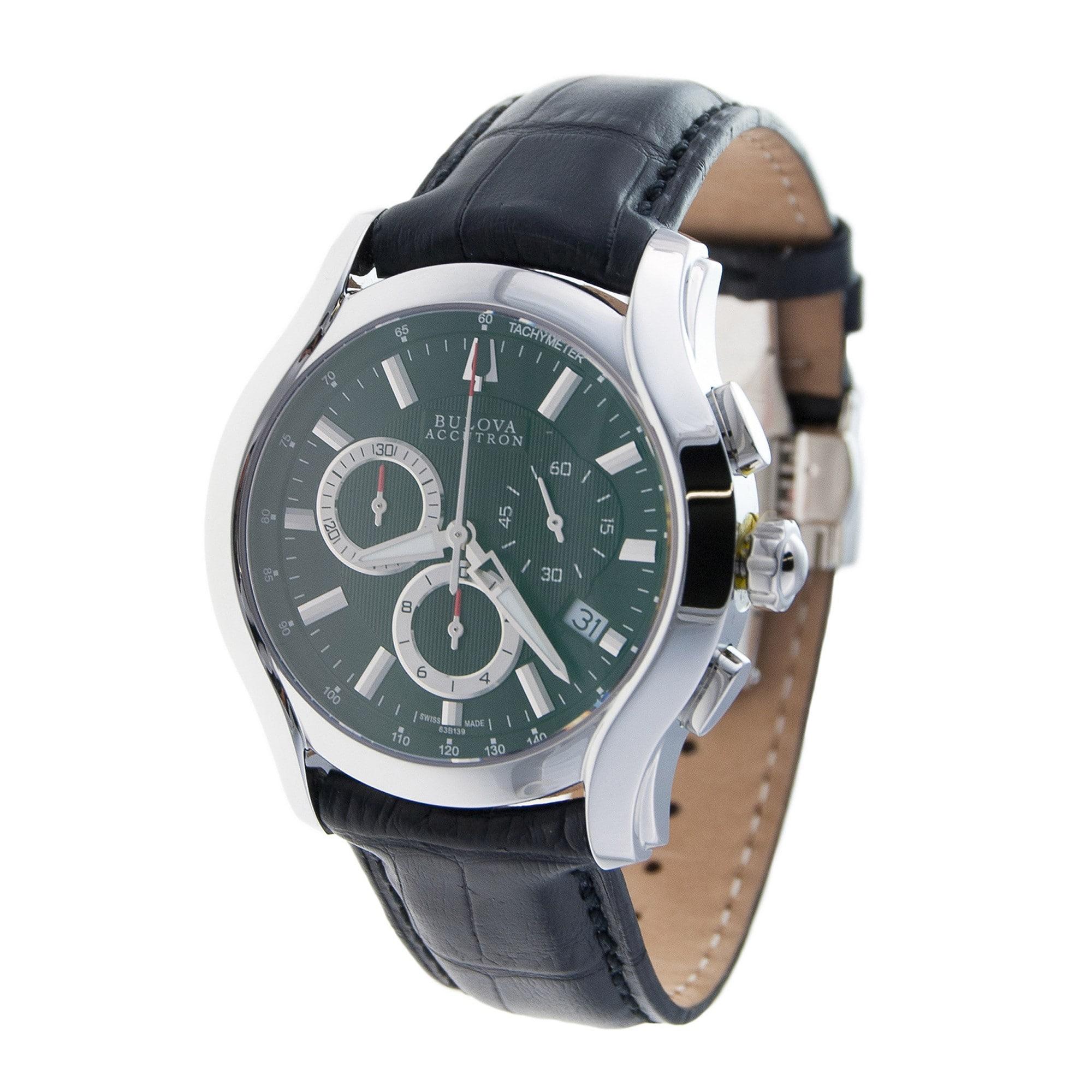 Bulova accutron men s 63b139 swiss made chronograph watch overstock