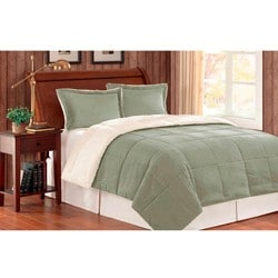 Premier Comfort Reversible Twin-size 2-piece Down Alternative Comforter and Sham Set