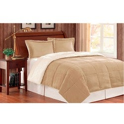 Premier Comfort Reversible King-size 3-piece Down Alternative Comforter and Sham Set