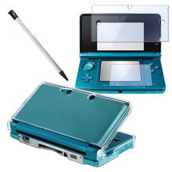 3-piece Case/ Screen Protector/ Stylus for Nintendo 3DS