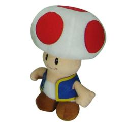 Super Mario Brothers Plush 8-inch Collectible Toy Toad/Cuddle Pillow