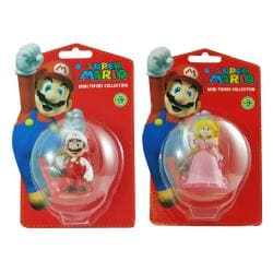 Super Mario Brothers Mario and Peach Figurine Bundle