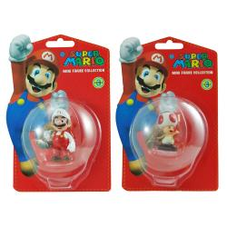 Super Mario Brothers Mario and Toad Figurine Bundle