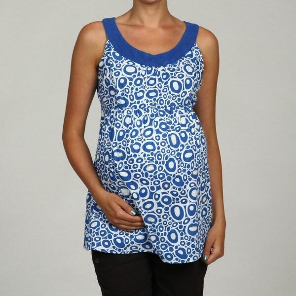 Oh! Mamma Women's Sequin Detail Sleeveless Maternity Top