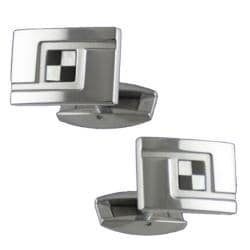 Daytona Mother-of-Pearl and Onyx Mosaic Cuff Links