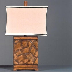 Brushstrokes Contemporary 1-light Tan Table Lamp
