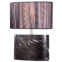 Executive Flair Black Marble Contemporary Table Lamp