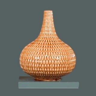 Honey Almond Woven Modern Basket Vase Lamp