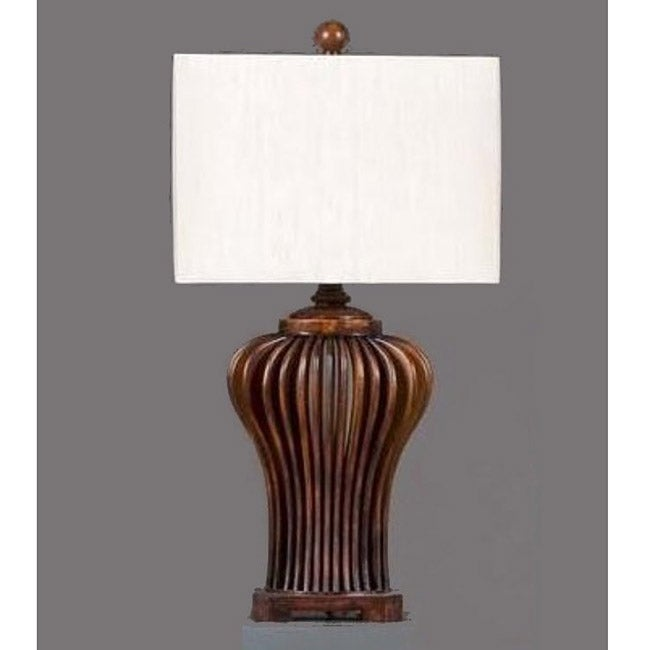 Chestnut Waterfall Traditional Dark Brown Table Lamp