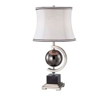 Global Reflections Marble Contemporary Table Lamp