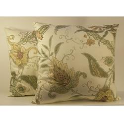 Pontoise Mimosa Floral Throw Pillows (Set of 2)