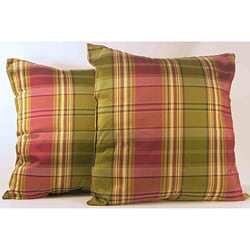 Gallahad Forest Plaid Throw Pillows (Set of 2)