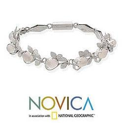 Sterling Silver 'Misty Affair' Moonstone Bracelet (India)
