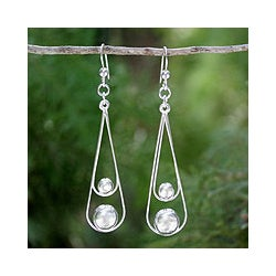 Sterling Silver 'Empathy' Dangle Earrings (Thailand)
