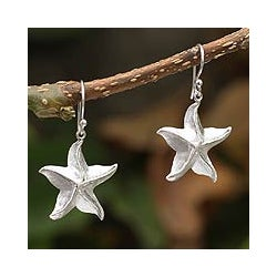 Sterling Silver 'Starfish Magic' Dangle Earrings (Peru)