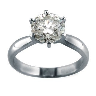 14k Gold Certified  2 1/5ct TDW 6-Prong Clarity-enhanced Diamond Engagement Ring (H, SI1)