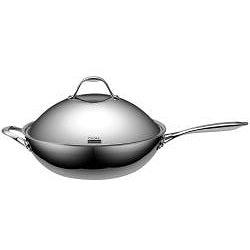 Cooks Standard Stainless Steel 13-inch Chef's Pan with High Dome Lid