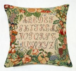Corona Decor French Jacquard Woven Alphabet Design Pillow